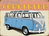 original Retro Volkswagen VW Bus Bulli Blechschild Metallschild Schild CAMPERVAN 30x40cm RHL