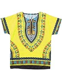 1a37fdc9ead76 Garçon Fille Enfants bébé Unisexe Couleur Africaine Vif Enfant Dashiki t  Shirt Tees