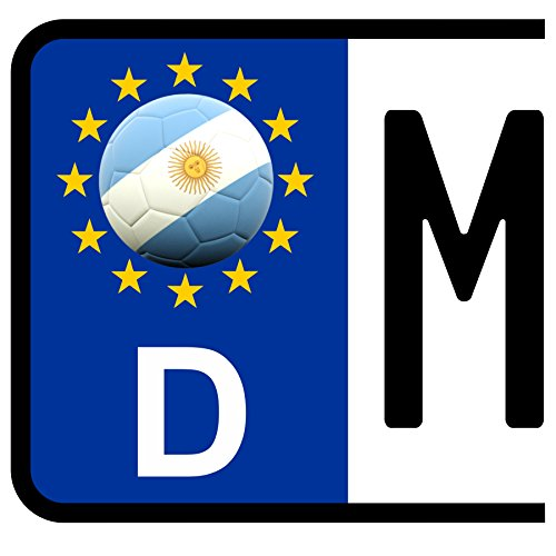 Fußball-bälle Argentinien (3 x Kennzeichen-Aufkleber Ball ARGENTINIEN Flagge KFZ Motorrad FanShirts4u)