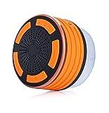 PYRUS Doccia Speaker GUJ85 Shock Impermeabile Microfono Altoparlante Stereo / Subacquea IP67 Senza Fili Bluetooth Incorporato Per La Funzione Viva Voce Con Radio FM, Lettore MP3, e Colore del LED caratteristiche multiple di illuminazione (arancione) immagine