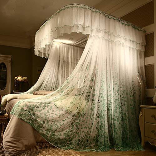 Luxus Moskitonetze,spitze Baldachin Vorhang Auf Netting,premium Leichten Materialien Bed Drapes Mit Hanging Kit Für Einzelne Doppelbett-g Queen2 - Drape Kit