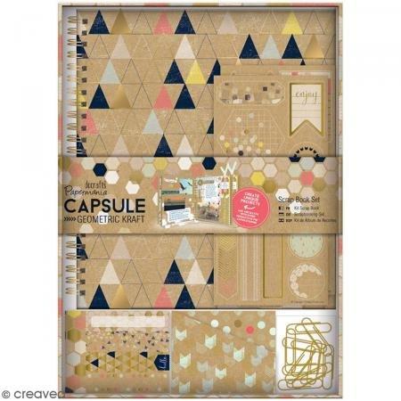 Docrafts Papermania Geometrische Kraft Spirale Scrapbook Kit, Multi (Punch-scrapbooking Scrapbooking-seiten)