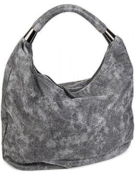styleBREAKER Handtasche, Beuteltasche im Vintage Design, Hobo Bag, Schultertasche, Tragetasche, Damen 02012050