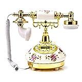 SinceY Telefono Antiguo Telefonos Fijos, Teléfono Fijo Teléfono Hogar Moda Oficina Creativa Fijo Europeo Antiguo Retro Cerámica Teléfono 245 158 200mm