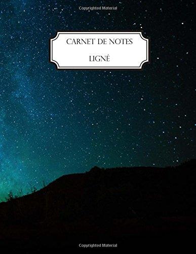 Carnet de notes ligné: A4 - Grand format - 160 pages lignées - Paysage - Espace - Galaxie - Nébuleuse
