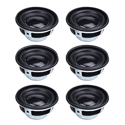 HSEAMALL 3,8 cm 4 Ohm 3 W Full Range Audio Lautsprecher, Stereo Woofer Lautsprecher für Arduino 6 Stück Full Range