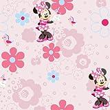 Decorare la stanza del vostro bambino con questo splendido carta da parati Minnie Mouse. I piccoli fan di Minnie apprezzeranno il design, che è dotato di belle fiori e uccelli su sfondo di colore rosa pallido. Facile da applicare, questa cart...