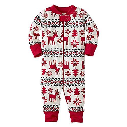 Juleya Xmas Family Matching Vater Mutter Kinder Neugeborenen Spielanzug Pyjamas Kleidung Choice (Weihnachten Frauen Outfits)