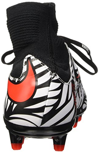 Nike Hypervenom Phatal Ii Df Njr Fg, Chaussures de Football Homme Multicolore (Noir/Bright Crimson-Blanc)