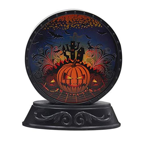 Efanhony Halloween Komisch KüRbis Kristallkugel Licht Lampe TüR Raumdekoration Led Laterne Party Home Requisiten Innenbeleuchtung -