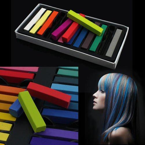dclenchement cheveux craie 24 qualit non toxique couleur doux halloween costume robe couleurs pastels kit - Craie Coloration Cheveux