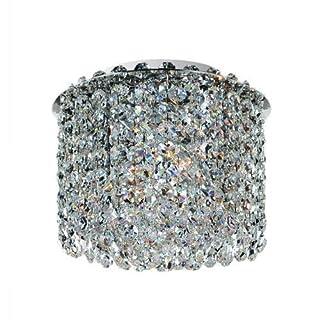 Allegri Lighting 11662-010-FR001 Millieu-Metro 2-Light Flush Mount with Clear Firenze Crystal, Chrome Finish by Allegri Lighting