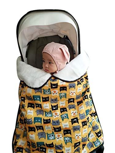 Manta de dormir para carrito de cochecito de bebé con clips Funda impermeable acolchada impermeable...