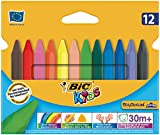 BIC Kids Plastidecor Triangle Colouring Crayons, Pack of 12