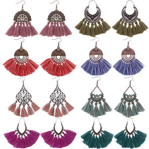 Udekit orecchino vintage moda con ciondolo pendente filo per donne ragazze
