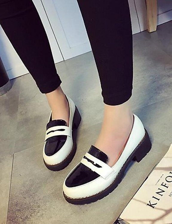ShangYi gyht / Scarpe Donna-Sneakers alla moda-Formale / gyht Casual-Comoda / Punta arrotondata-Quadrato-Finta pelle-Nero... Parent cfbe1e