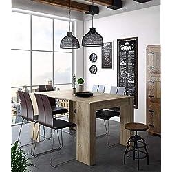 Home Innovation - Table Console Extensible, rectangulaire avec rallonges, jusqu'à 140 cm, pour Salle à Manger et séjour, Couleur chêne Clair brossé. JusquŽà 6 Personnes.