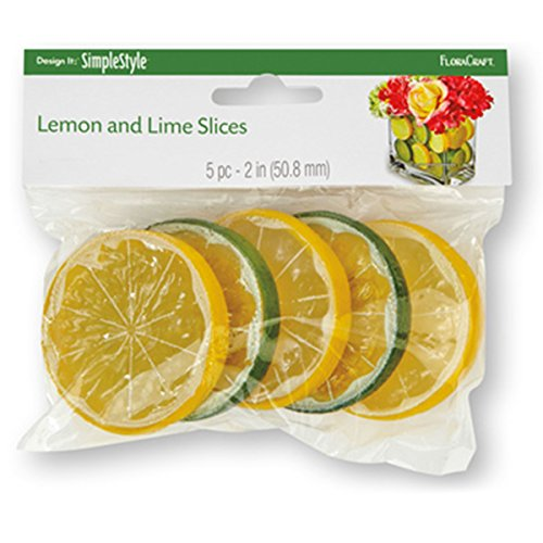 Preisvergleich Produktbild Design It Simple Decorative Fruit 5/Pkg-Lemon & Lime Slices