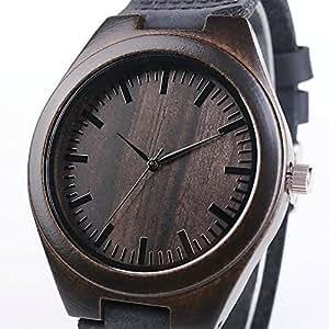 Orologio da uomo orologio di legno braccialetto in vera for Orologio legno amazon