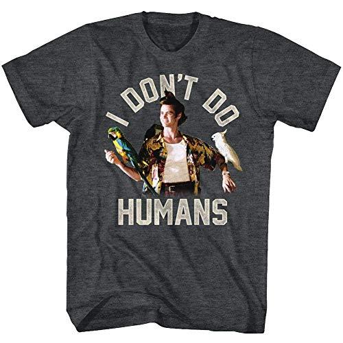 Ace Ventura: Pet Detective Comedy Movie I Don't Do Humans T-Shirt für Erwachsene - Schwarz - Klein (Detective Pet)