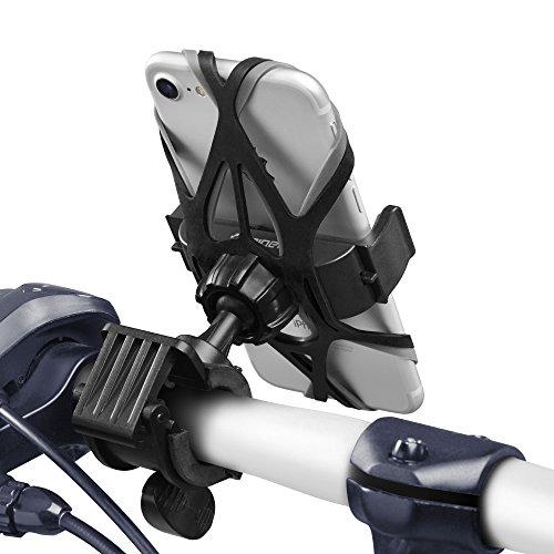 Supporto Bici Smartphone, Spigen Velo [Universale Regolabile] [360° Visualizza Contenuto] [2 Gomma Cinghie] rotante Phone Holder Mount manubrio della bici della porta cellulare culla pinza - A250