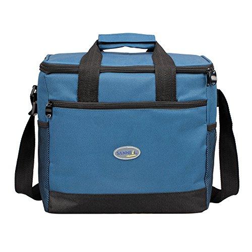 Bonnoeuvre16l Bolsa Térmica Porta Alimentos bolsa de almuerzo Nevera Portátil para Enfriamiento Alimentos Almuerzo Lunch Bag (Azul marino)