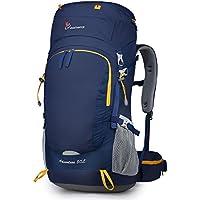 MOUNTAINTOP 50L/55L/60+5L Erwachsene Trekkingrucksäck Wanderrucksack Rucksack für Reisen Outdoor Klettern Camping mit Regenhülle
