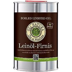 Vernis à l'huile de lin OLI-NATURA, protection biologique du bois, 1 litre, incolore - naturel