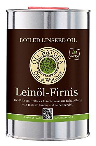 Vernis à l'huile de lin OLI-NATURA, protection biologique du bois, 1 litre, incolore...