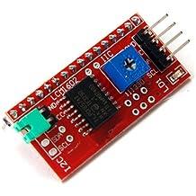 GAOHOU - Módulo de interfaz en serie para placa Arduino (para módulo LCD de 2 líneas de 16 caracteres, puertos IIC, I2C, TWI y SPI)
