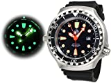 Tauchmeister 52mm Automatik Uhr 24 Std. Funktion Saphir Glas T0278 - 3