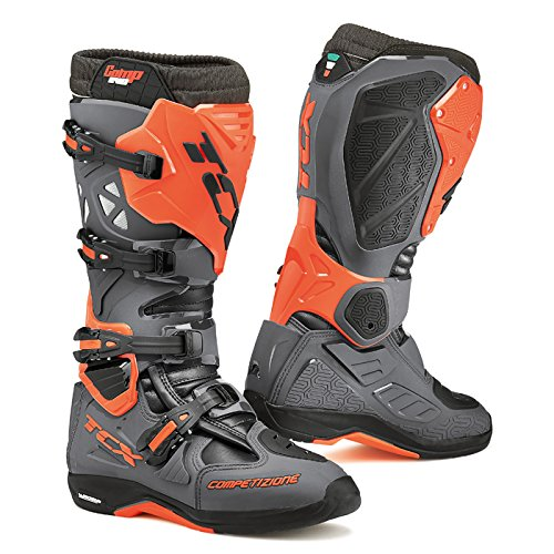 Tcx Comp Off-road-boot (TCX - Motorradstiefel CROSS - COMP EVO MICHELIN DARK GREY/ORANGE FLUO 45)