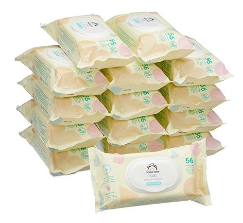 Marchio amazon -  mama bear soft salviette umidificate per bebè - 15 confezioni x 56 salviette (840 pezzi)