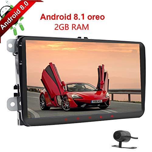 Android 8.1 4Core 2GB RAM 2Din Jugador coche GPS Pantalla