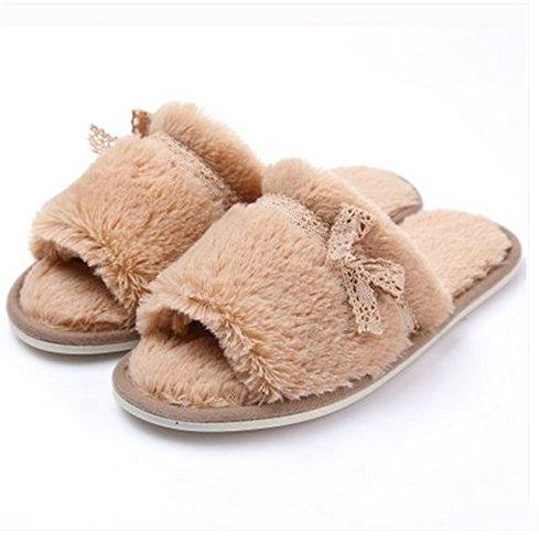 Chaussons en coton à lacets pour femme ( # 1, # 2, # 3 : # 1 , taille : 37-38 ) N ° 2