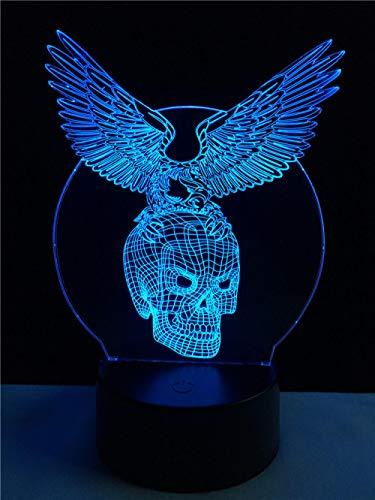 el Form 3D Lampe Licht Halloween Dekor Nachtlicht Multicolor Raumbeleuchtung Dekoration Geschenke für Freund ()