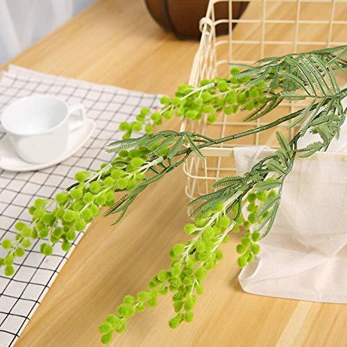 Flor Artificiales Home Acacia Bean Rama Lotes Boda Fiesta Decoración Escritorio Romántico Ramo Plástico Duradero Regalo…