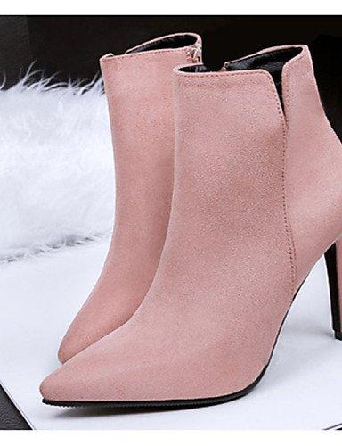WSS 2016 Chaussures Femme-Décontracté-Noir / Gris / Fuchsia / Kaki-Talon Aiguille-Talons-Talons-Laine synthétique khaki-us6 / eu36 / uk4 / cn36