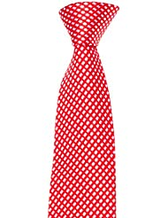 Krawatte von Mailando, kariert, rot- weiss