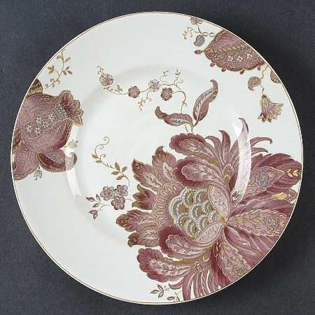 222 Fünfte Eliza Salatteller, Paisleymuster, Pflaume, 4 Stück - 222 Fifth Dinnerware