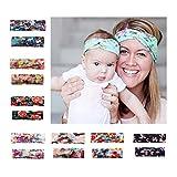 CHSEEA 7 Stück Baby Mutter Stirnbänder Elastische Haarband Turban Kleinkind Stirnband Haar Bogen Fliege Schleife Haarreifen Mädchen Head Wrap zur Kostüm Fotografie Props #2