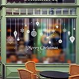 HENGSONG Weihnachten Deko Wandaufkleber Schlafzimmer Wohnzimmer Fensterbilder Sticker Wandtattoo Wanddeko