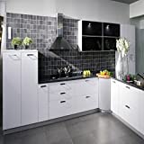 Bluelover 500X30Cm Impermeabile Cucina Armadi Guardaroba Adesivi Rinnovato Bianco Autoadesivo Autoadesivo