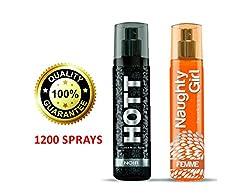 Hott NOIR & Naughty Girl FEMME Perfume Combo For Couple (1200 Sprays Each)