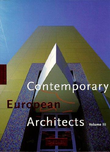 Contemporary European architects,vol III, trilingual