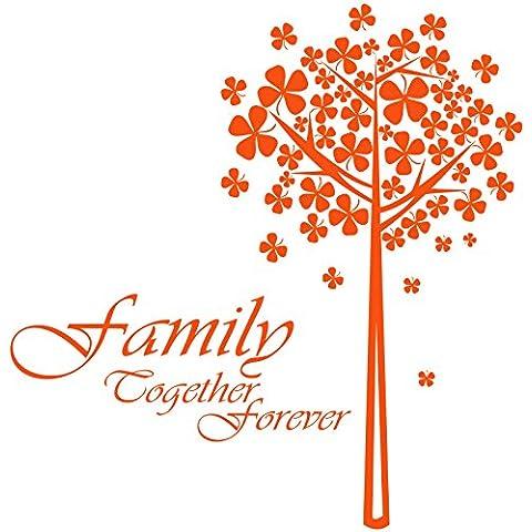 Family gfamilytree_79 together forever ancora, dimensioni: 60 cm x 61 cm, disponibile in 18 colori convenzionale):-Adesivo da parete