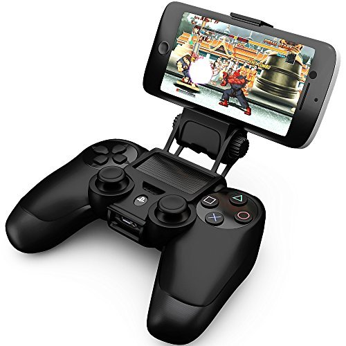 Ortz PS4 Smart Clip Holder for PlayStation 4 Dualshock Controller - Best Clamp Bracket for Android Mobile Phones Galaxy S3 S4 S5 S6 Note 2 3 4 & iPhone 4 4s 5 5s 6