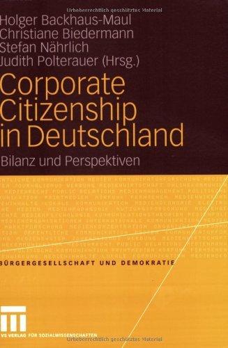 Download Corporate Citizenship in Deutschland: Bilanz und Perspektiven (Bürgergesellschaft und Demokratie)
