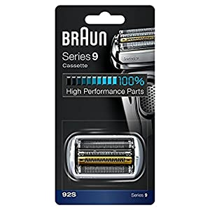 Braun 92S Series 9 Electric Shaver Replacement Foil and Cassette Cartridge – Silver