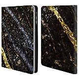 Head Case Designs Offizielle PLdesign Glitzernde Gold Linien Felsen Gewebe Und Funkel Brieftasche Handyhülle aus Leder für iPad Mini 1 / Mini 2 / Mini 3